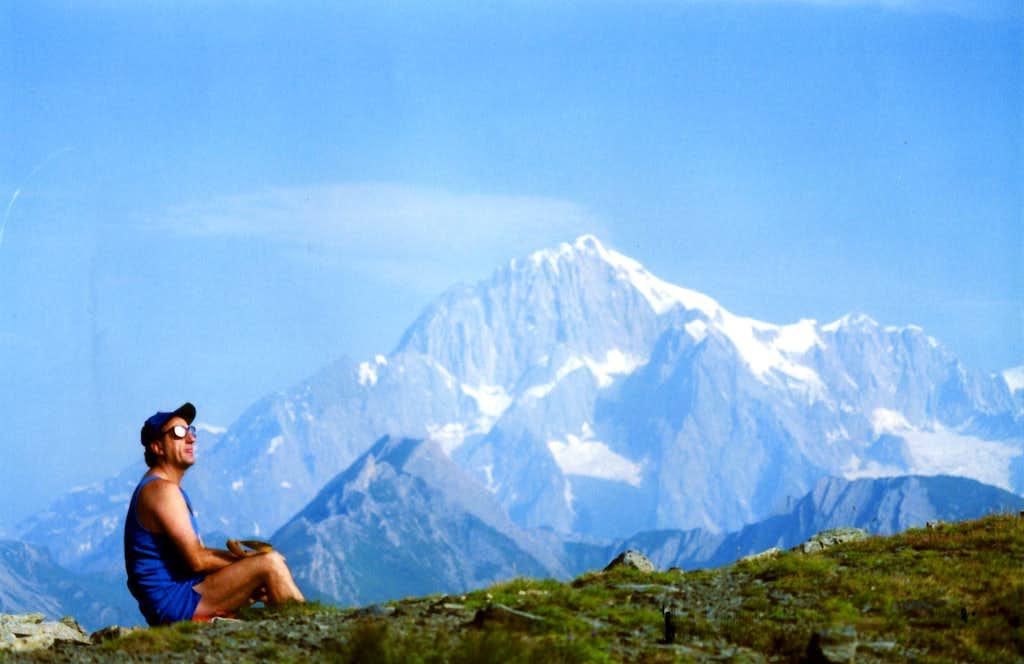 <b>MOUNT COLMET</b> from N-NW Ridge towards the MOUNT BLANC