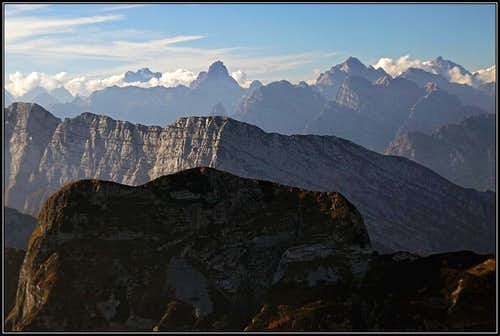 Dolomiti Friulane from Monte Raut