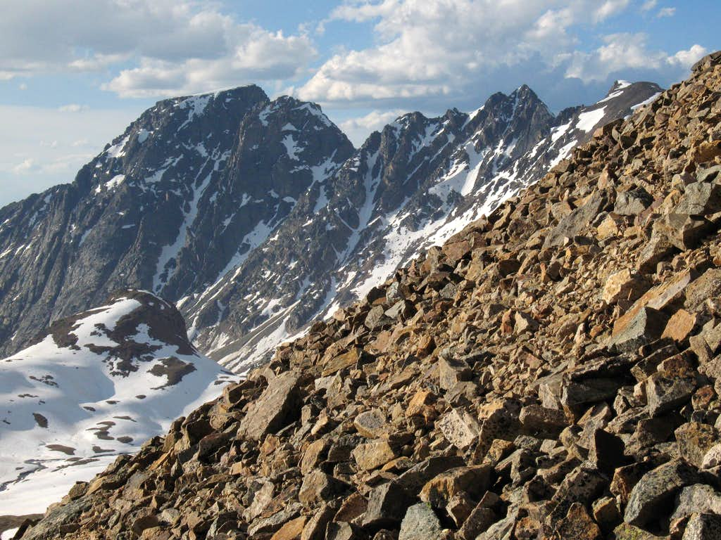 Wolf Mountain, Sawtooth Peak #1, and Sawtooth Mountain
