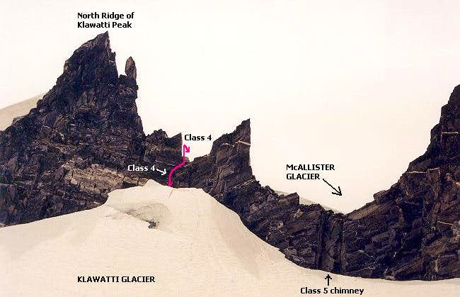 Annotated view of the route...