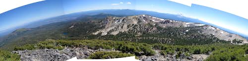 Thousand Lakes Wilderness from Crater Peak