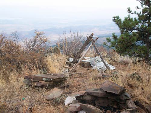 Campsite on false summit
