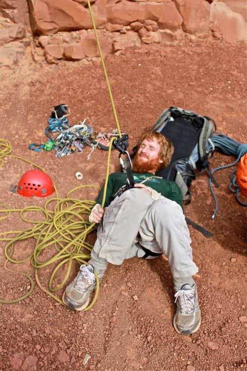 Napping belayer