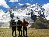 Back down from the Monte Rosa