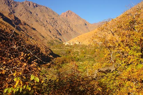View of Ait Igrane village on the way to Lac d'Ifni