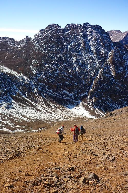 Going down the scree slope