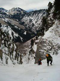 Climbing Grr Couloir