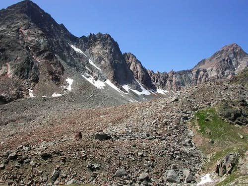 Dal Mont Grauson <i>3240m</i> alla Punta Garin <i>3448m</i>