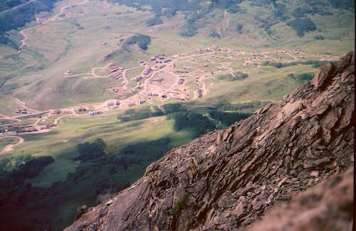 Straight Down from the Crested Butte Summit