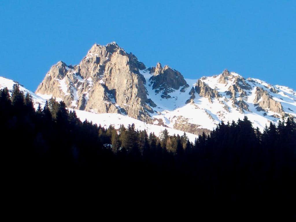 Weißstein from the Lisens valley