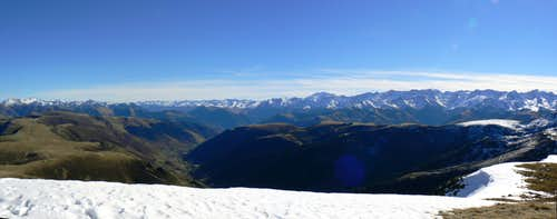 Summit Panorama from Mont Né, from South to East