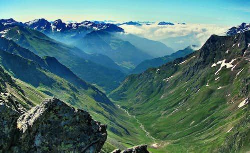 Border Valley between Otztlaer and Stubaier Alps - Italy