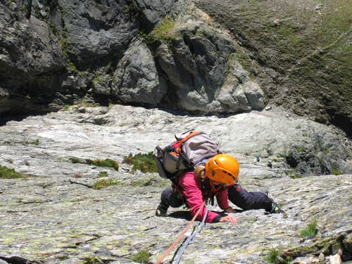 Climbing the south face