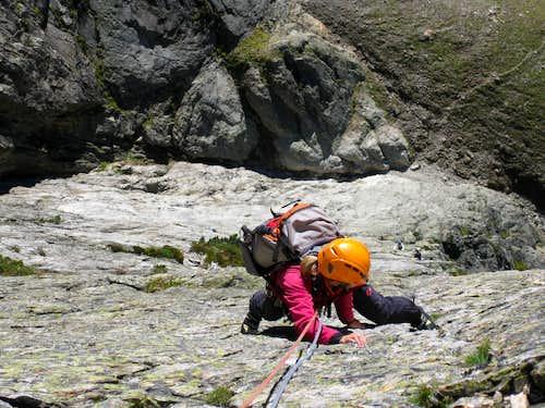 Climbing the south face