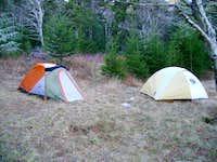 Campsite on Commissary Ridge
