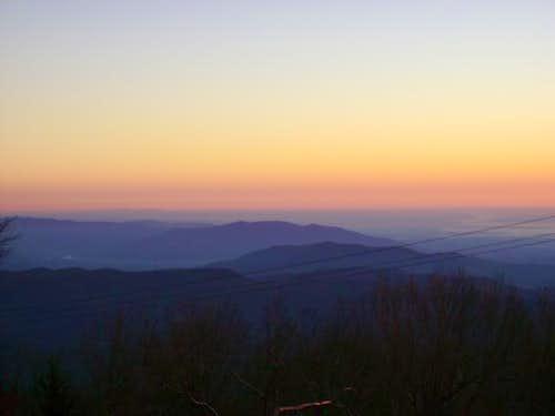 Sunset on Commissary Ridge