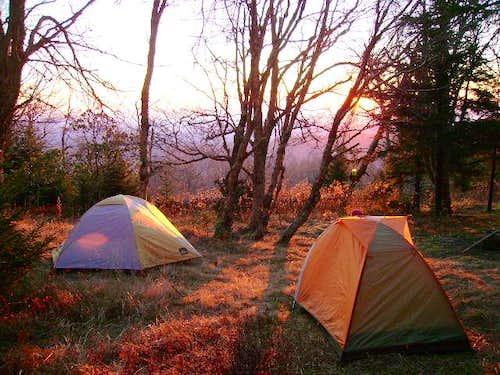 Sunrise on Commissary Ridge
