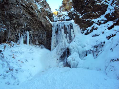 Adams Waterfall in Winter