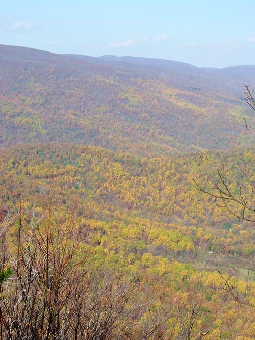 Blue Ridge from Doubletop in Autumn