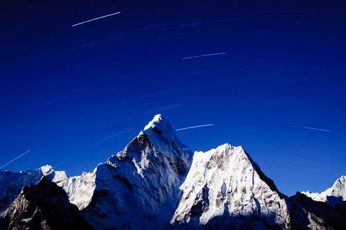 Ama Dablam by moonlight