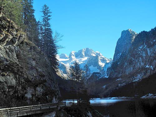 Lake Vorderer Gosausee and Dachstein