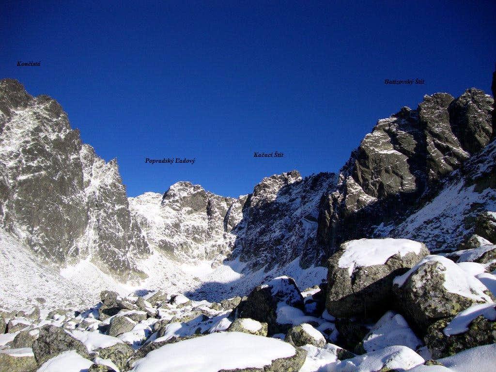 Surroundings of Popradský Ľadový štít