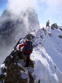 On the sothern ridge of Popradský Ľadový štít