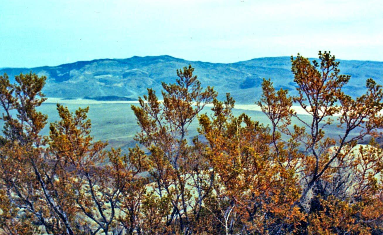 Panamint Butte and Town Peak from northwest ridge of Zinc Hillzinc town