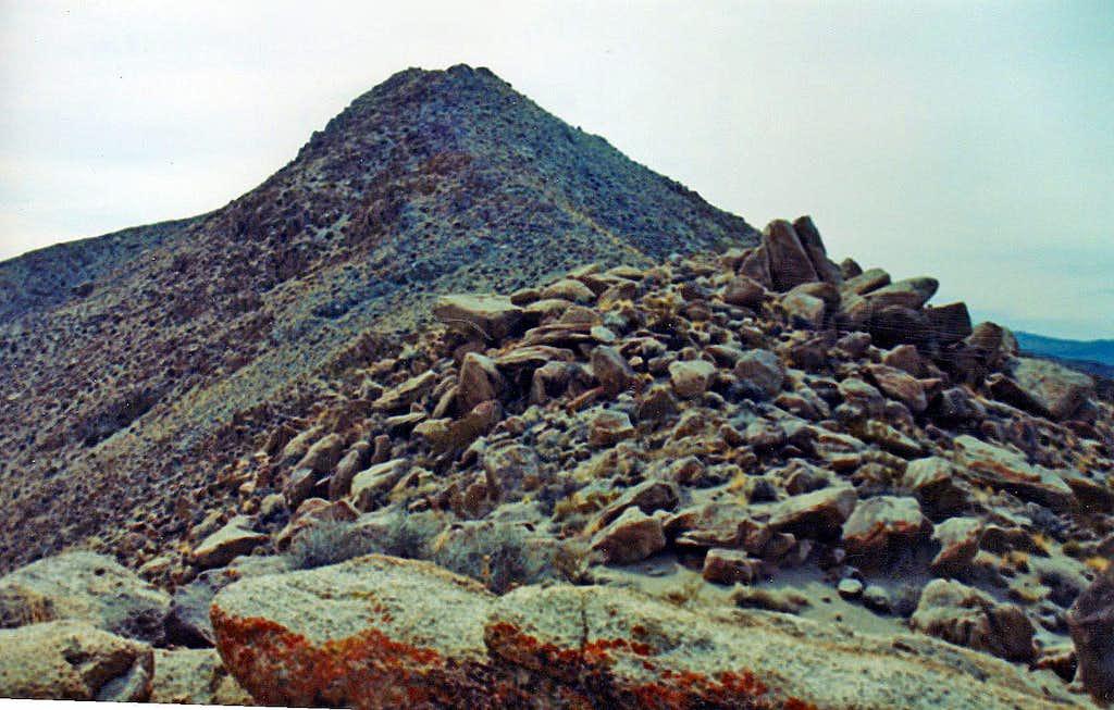Zinc Hill north summit from the northwest ridge
