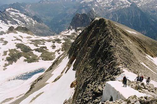 The final ridge of...