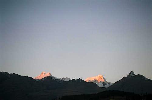 At dusk from Huaraz....