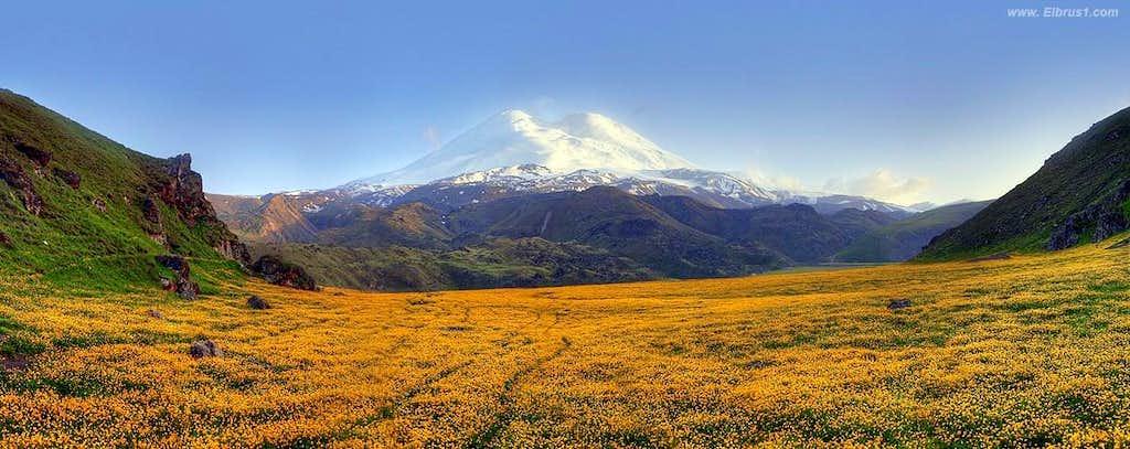 Mt. Elbrus from Emanuel Base