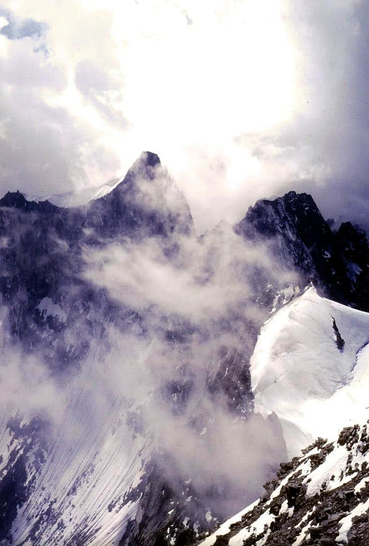 From AIGUILLE of TALE'FRE <i>(3730m)</i>, before STORM 1985