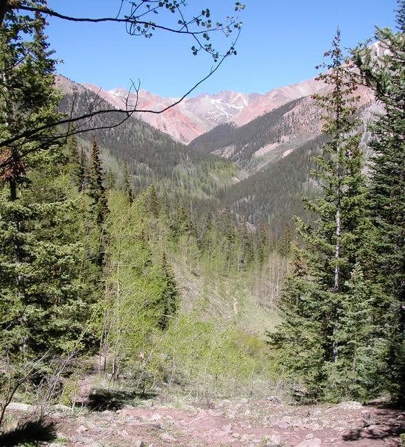 View up Silver Creek Basin...