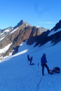 A break on the Quien Sabe Glacier