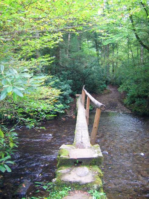 Typical stream crossing along...