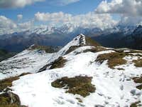 View to the Ankogel from the summit of Silberpfennig (2600m)...