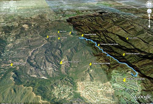 Temescal Peak - Google Earth