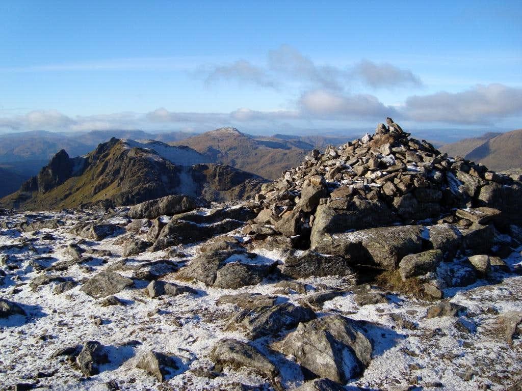 Cairn near summit of Beinn Narnain