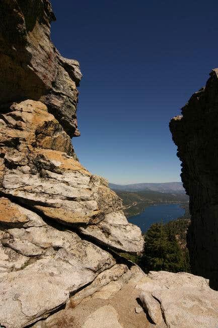 Donner Lake from Donner Peak.