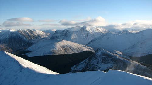 Sgorr Dhearg, with Glencoe in the distance