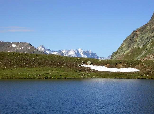 la Roccia Viva (3650 m.) dal...