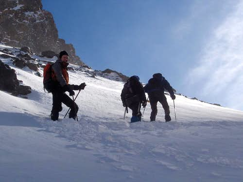 Climbing Toubkal in the winter