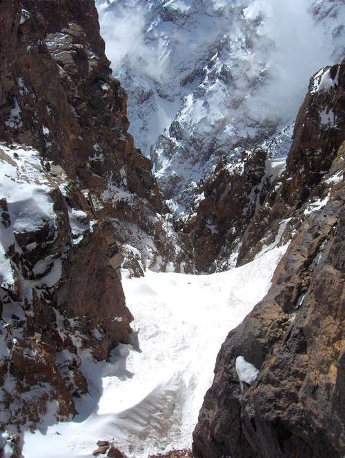 Snow gully