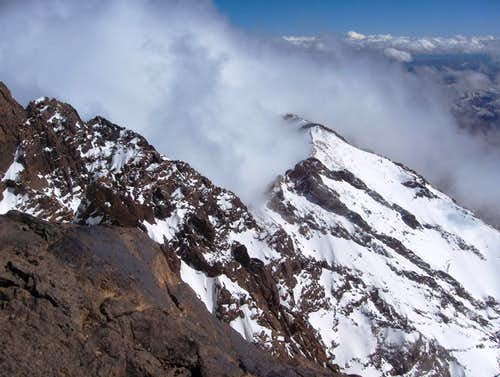 Clouds on Toubkal