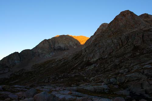 First light on Mount Eolus