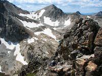 Scrambling on Williams Peak, Sawtooth Range