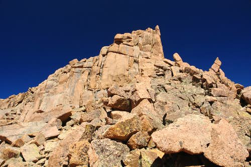 Summit tower on Sunlight Peak