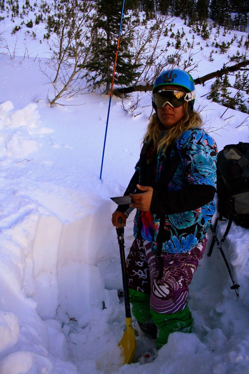 Kessler Peak's Argenta Snowpit