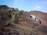 4100 m. You climb to peak ,...
